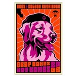 PEACE Dog - Golden Retriever Large Poster