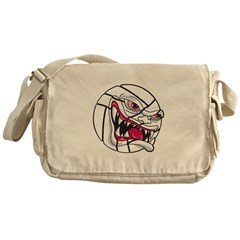 Scary Volleyball Messenger Bag