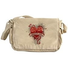 Heart Wrestling Messenger Bag