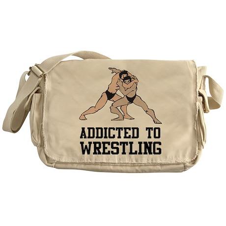 Addicted To Wrestling Messenger Bag