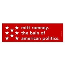 Mitt Romney the Bain Bumper Sticker