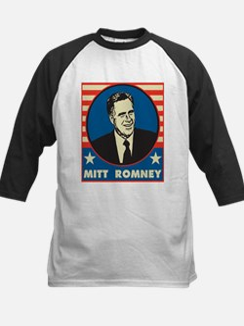 Retro Mitt Romney Kids Baseball Jersey