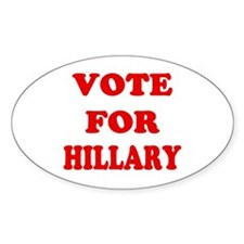 Vote for Hillary Oval Decal