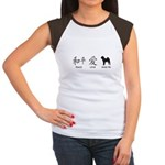 Chinese-Peace, Love, Shar Pei Women's Cap Sleeve T