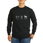 Chinese-Peace, Love, Shar Pei Long Sleeve Dark T-S