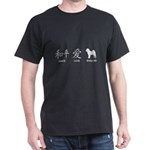 Chinese-Peace, Love, Shar Pei Dark T-Shirt