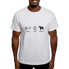 Chinese-Peace, Love, Shar Pei T-Shirt