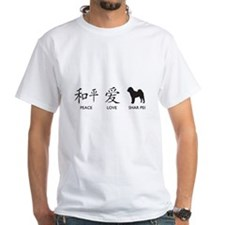 Chinese-Peace, Love, Shar Pei Shirt