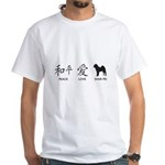 Chinese-Peace, Love, Shar Pei White T-Shirt