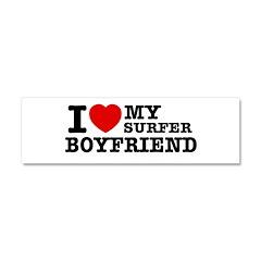 I love my Surfer Boyfriend Car Magnet 10 x 3