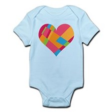 Patchwork Hearts Infant Bodysuit
