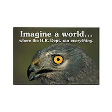 Imagine a World - Satirical Magnet