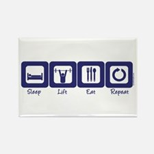 Sleep- Lift- Eat- Repeat Rectangle Magnet