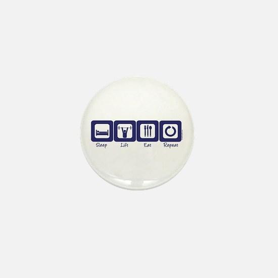 Sleep- Lift- Eat- Repeat Mini Button