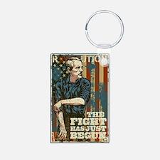 The Fight Has Just Begun Aluminum Photo Keychain