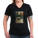 The Fight Has Just Begun Women's V-Neck Dark T-Shi