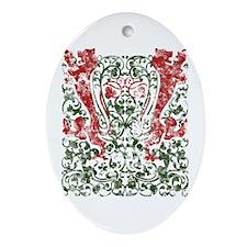 Vintage Felines Ornament (Oval)