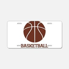 Basketball with Basketball Br Aluminum License Pla