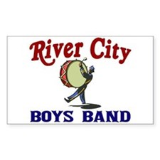 River City Boys Band Rectangle Decal