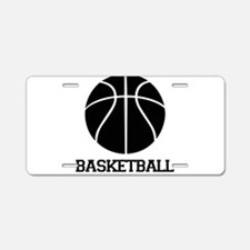 Basketball with Basketball Bl Aluminum License Pla