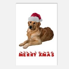 Golden Retriever Christmas Postcards (Package of 8