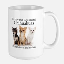 God & Chihuahuas Large Mug