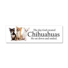 God & Chihuahuas Car Magnet 10 x 3