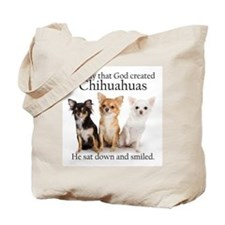 God & Chihuahuas Tote Bag