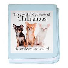 God & Chihuahuas baby blanket