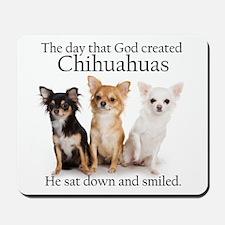 God & Chihuahuas Mousepad
