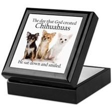God & Chihuahuas Keepsake Box