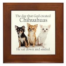God & Chihuahuas Framed Tile