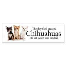 God & Chihuahuas Bumper Sticker