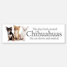 God & Chihuahuas Sticker (Bumper)