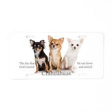 God & Chihuahuas Aluminum License Plate