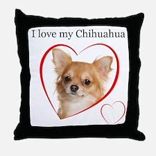 Love My Chihuahua Throw Pillow