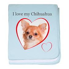 Love My Chihuahua baby blanket