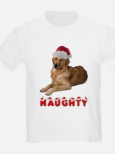 Naughty Golden Retriever T-Shirt