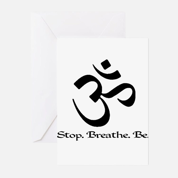 stopbreathebe copy Greeting Cards