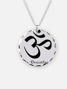 Unique Meditate Necklace Circle Charm