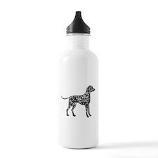 Dalmatian Silhouette Water Bottle