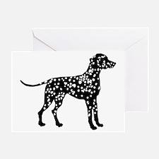 Dalmatian Silhouette Greeting Card