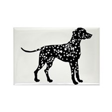 Dalmatian Silhouette Rectangle Magnet (10 pack)