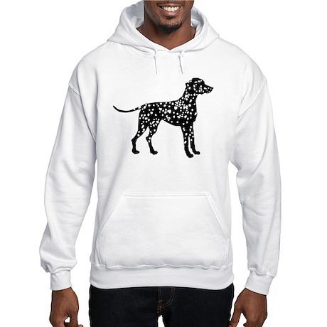 Dalmatian Silhouette Hooded Sweatshirt