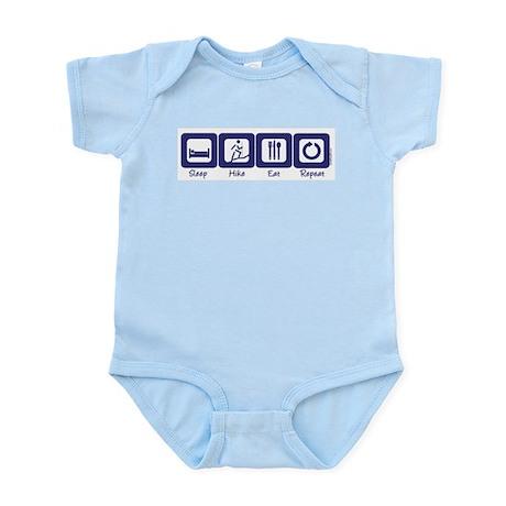 Sleep- Hike- Eat- Repeat Infant Creeper