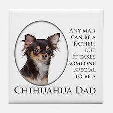 Chihuahua Dad Tile Coaster