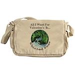 Valentine's Whirled Peas Messenger Bag