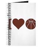 I Love Basketball Brown Journal