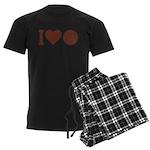 I Love Basketball Brown Men's Dark Pajamas