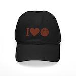I Love Basketball Brown Black Cap